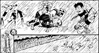 Nordiskt Idrottslif illustrerar SM-finalen i fotboll 1911.