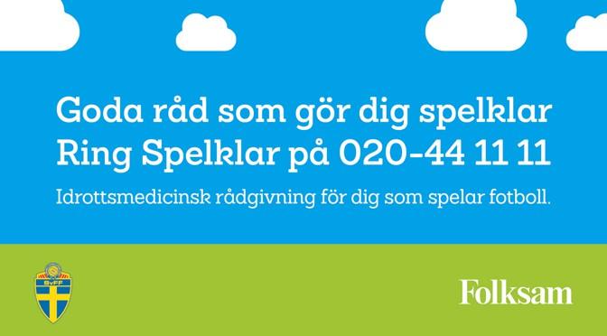 """Folksam och SvFF lanserar """"Spelklar"""""""